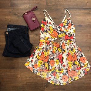 Free People Medium floral tank